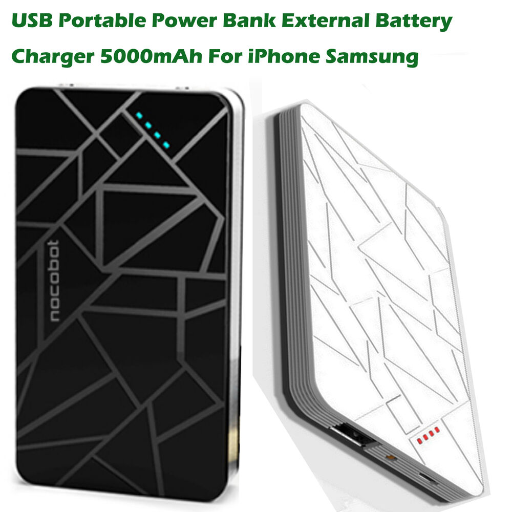 external iphone charger power bank 5000mah portable external backup battery 10563