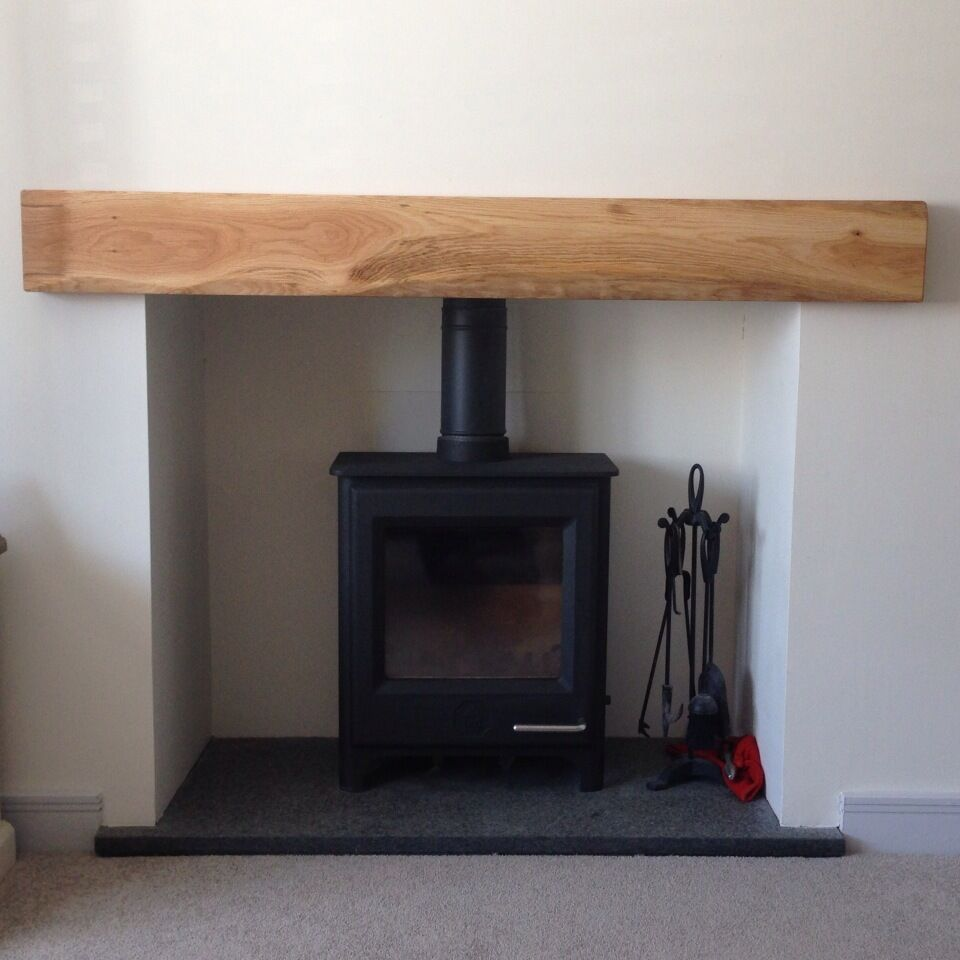 Solid Oak Beam Floating Shelf Mantle Piece Fire Place Surround Sanded Shaped. | eBay