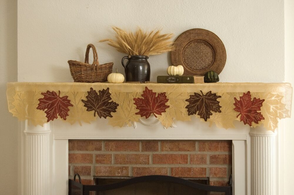 Swag lamp leaf heritage lace autumn fall thanksgiving ebay