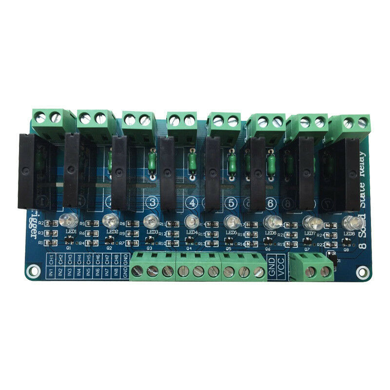 New 8 Channel 5v Solid State Relay Module Board Omron Ssr