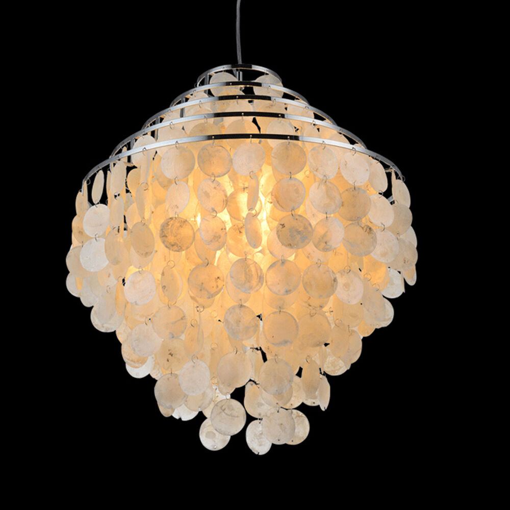 New Hanging Shell Pendant Chandelier Light Living Room Home Ceiling Lamp Decor Ebay