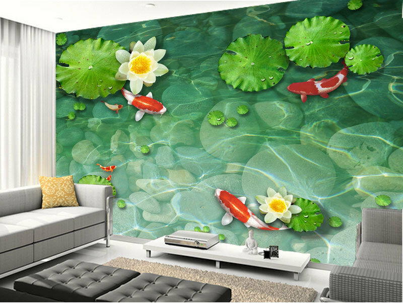 Koi pond lily fish pad garden full wall mural photo - Watch over the garden wall online free ...