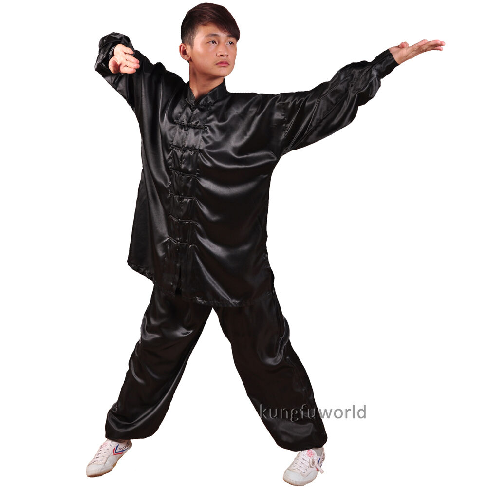 8 Colors Silk Tai chi Uniforms Wushu Martial arts Kung fu Morning Excercise Suit | eBay