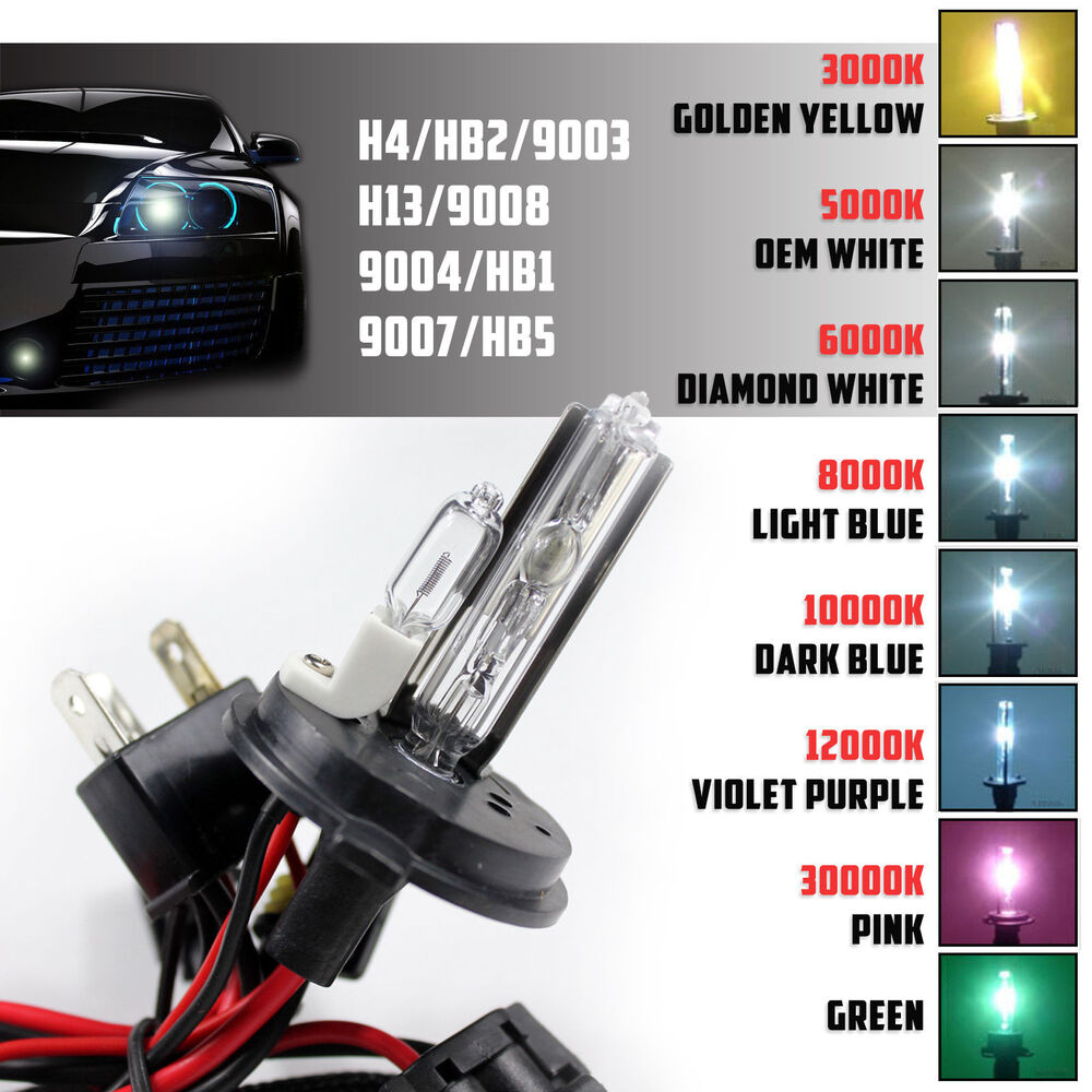 2 35w 55w Replacement Hid Lights Bulbs Dual Beam For Xenon Kit H4 H13 9004 9007 Ebay
