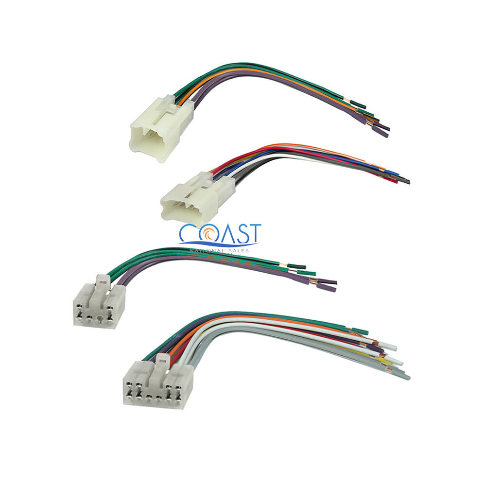 car stereo radio wire wiring harness set for 1987