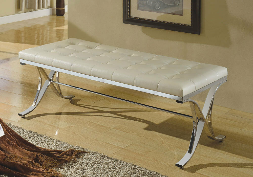 modern benches for bedroom royce modern hallway bench stool chair beige pu cushion 16327