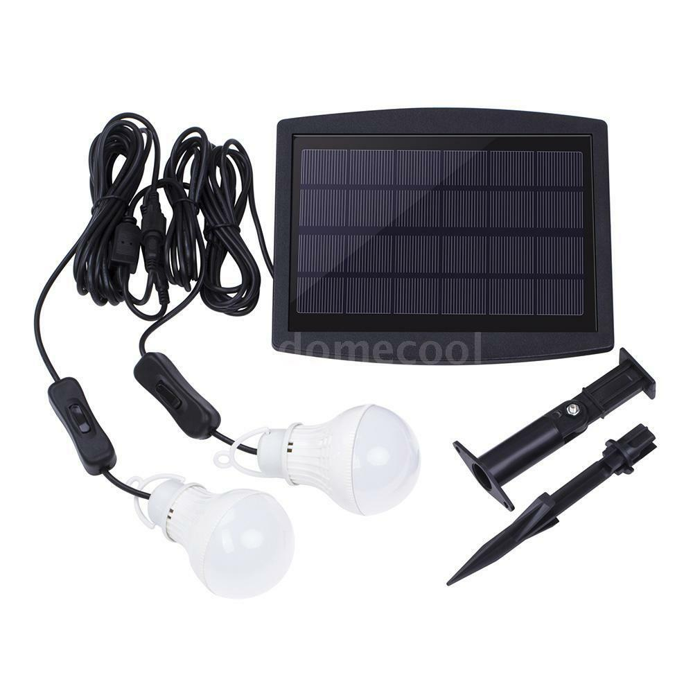 Solar Power Led Light Portable Bulb Lamp Lighting System ...