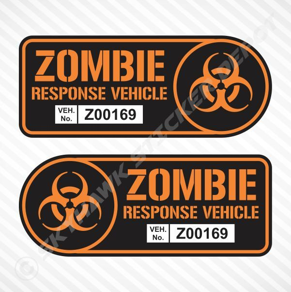 Zombie Response Vehicle Sticker Set Vinyl Decal Walking