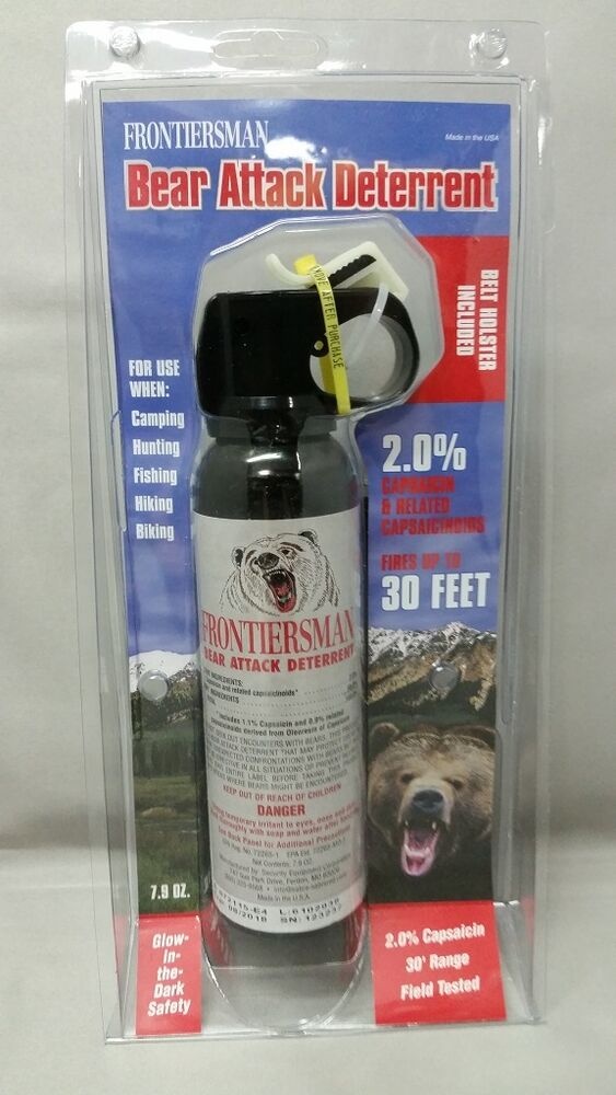 Bear Protection With Frontiersman Bear Spray: NEW Sabre Frontiersman Bear Spray 7.9oz W/Belt Holster