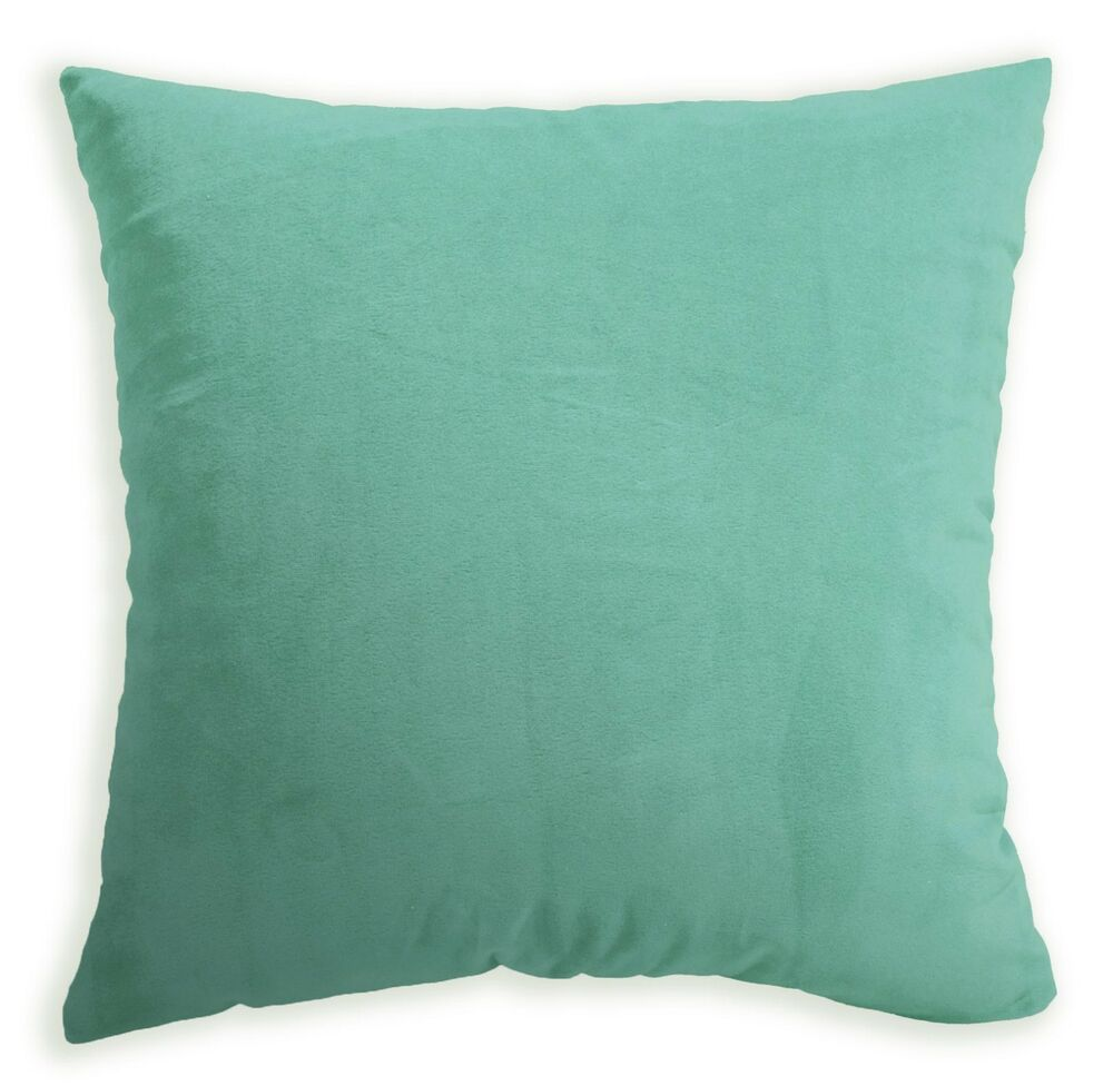 Mf58a Light Turquoise Smooth Soft Velvet Cushion Cover