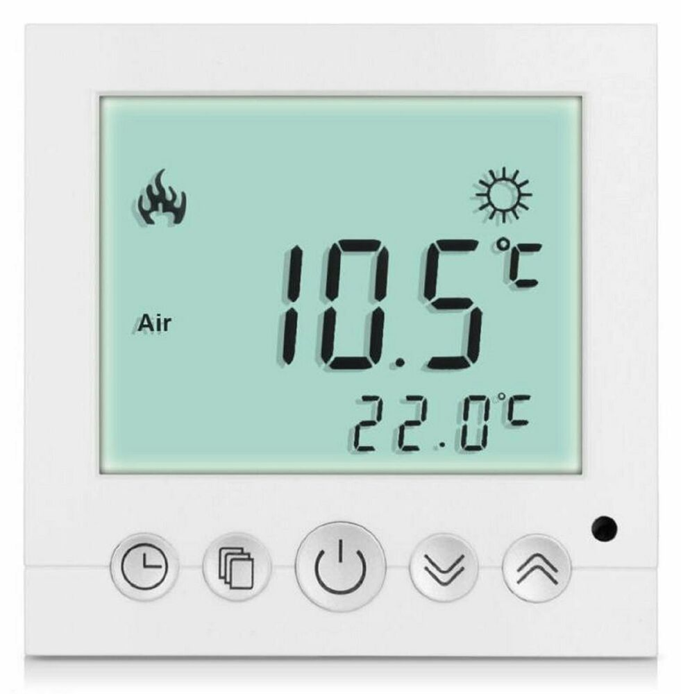 digital thermostat raumthermostat fu bodenheizung. Black Bedroom Furniture Sets. Home Design Ideas