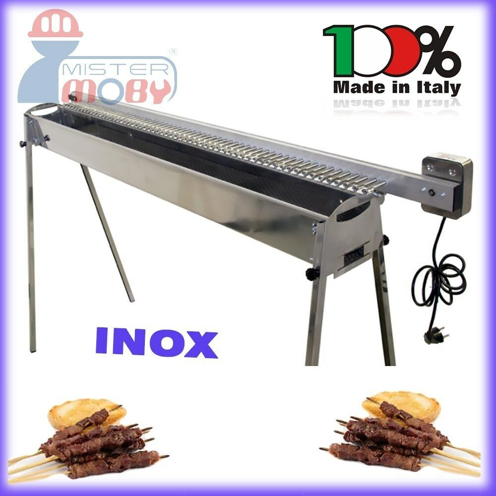 tecnoroast kebab barbecue charcoal inox grill electric. Black Bedroom Furniture Sets. Home Design Ideas
