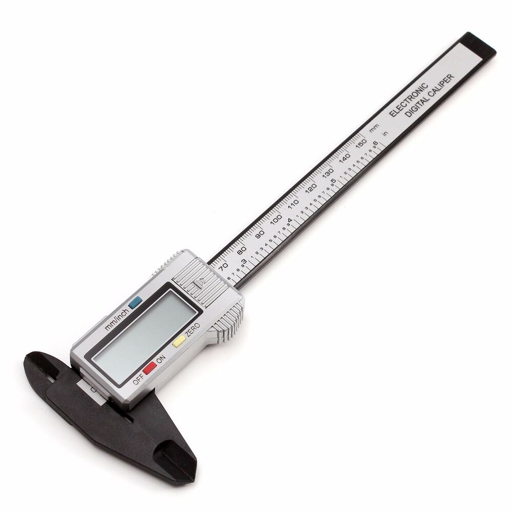 6in 150mm Carbon Fiber Digital Lcd Electronic Ruler