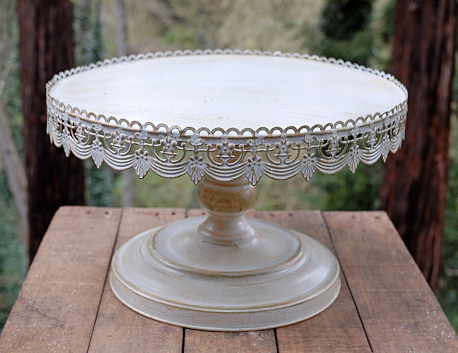 round wedding cake stands vintage metal cake stand white wedding 7147