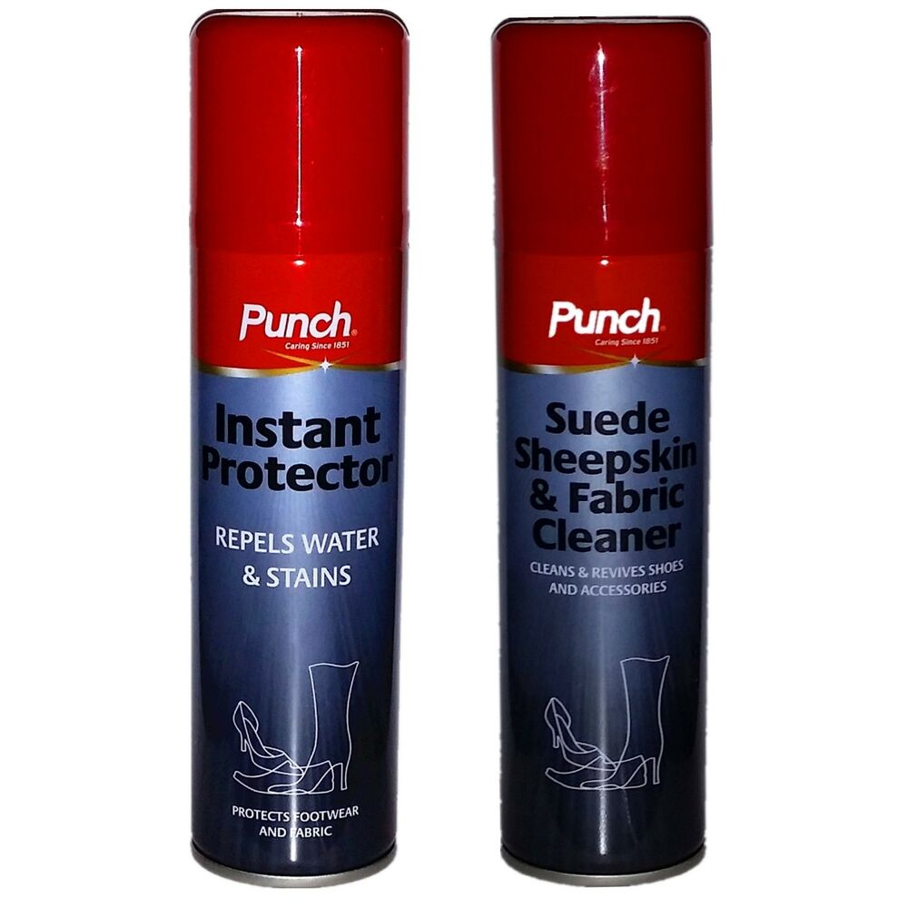 punch boot shoe spray clean water stain protector fabric