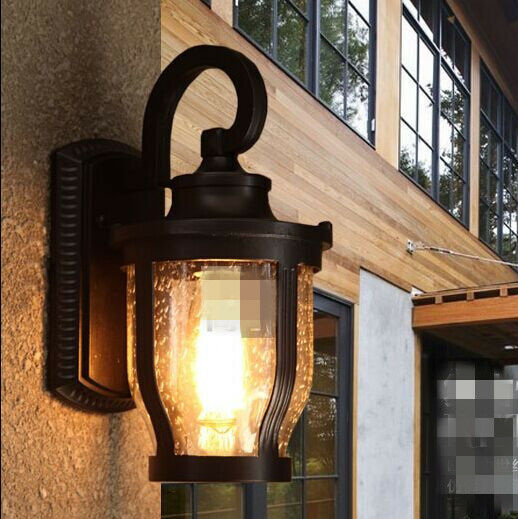 New Retro Industrial Wall Lamp Light Glass Diy Home Decor Garden Cafe Outdoor Ebay