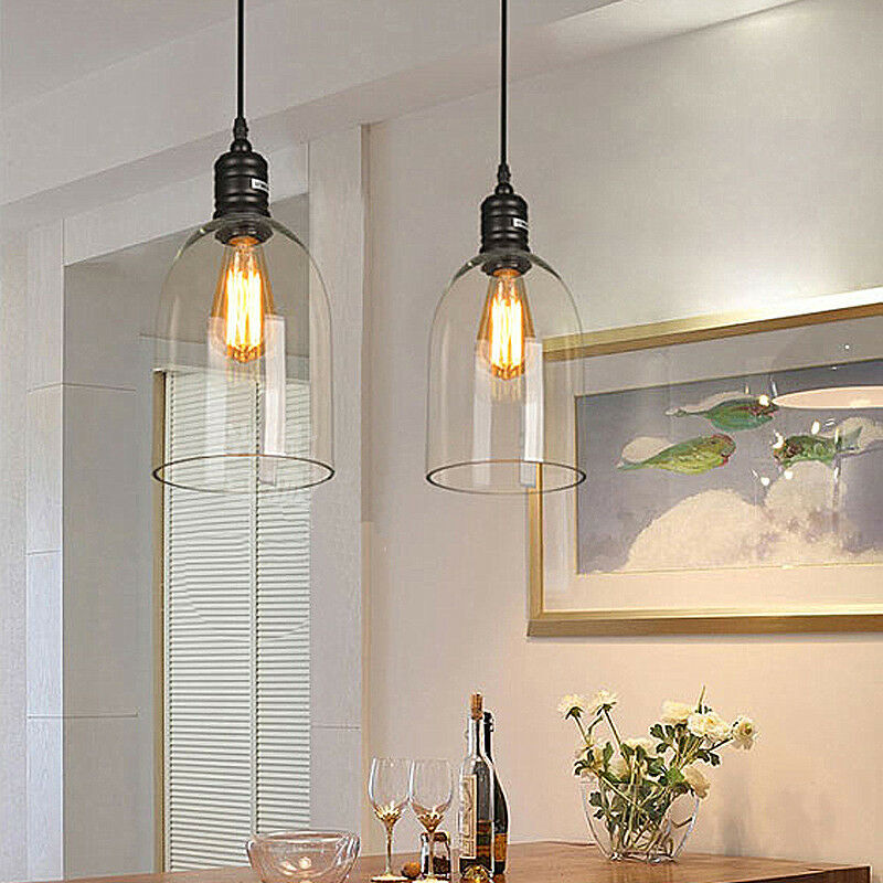 Glass Pendant Lighting Kitchen LED Ceiling Lights Bar Lamp