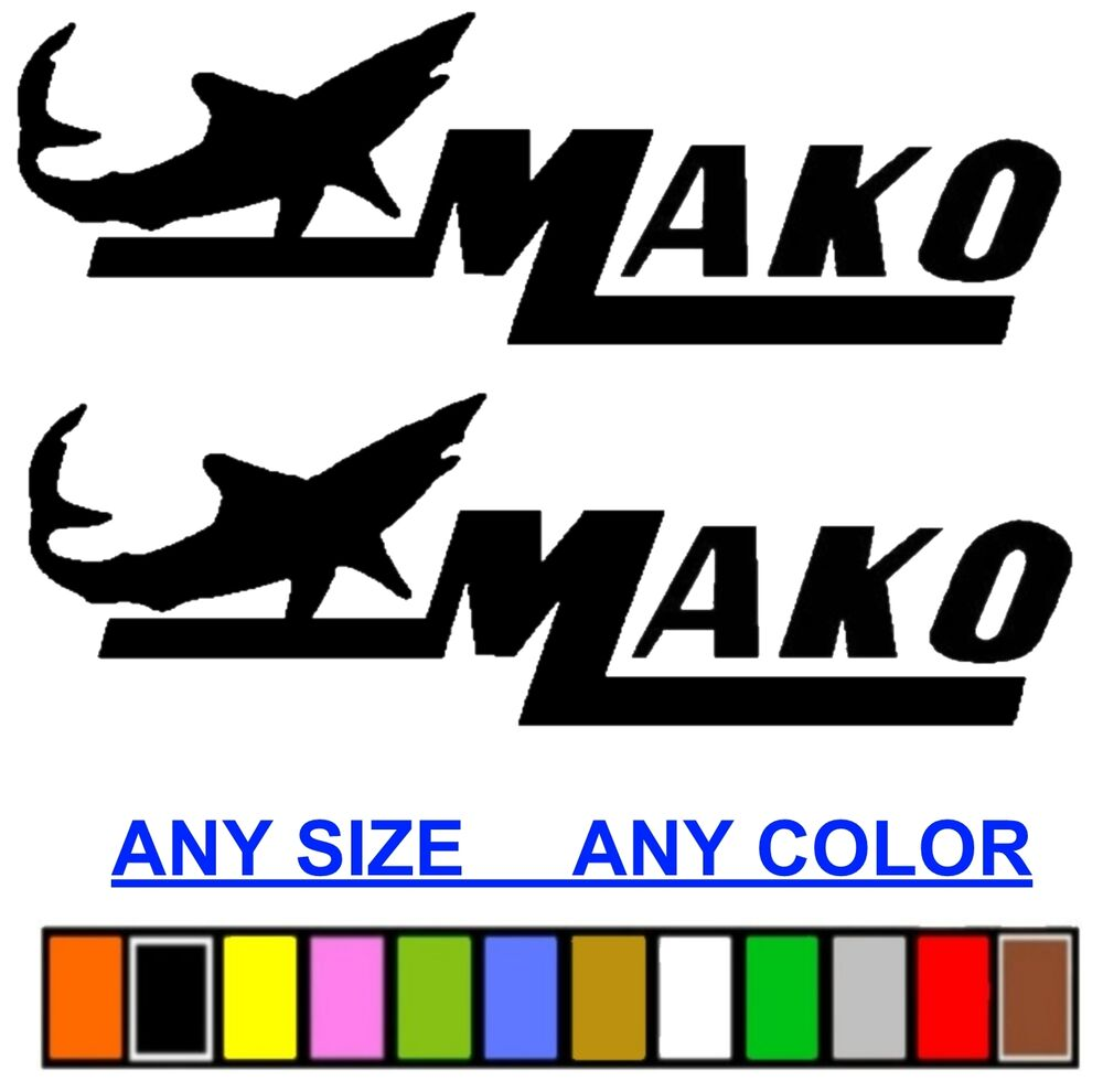 Mako Marine Boat Sticker Decal Fishing Any Size Or Color