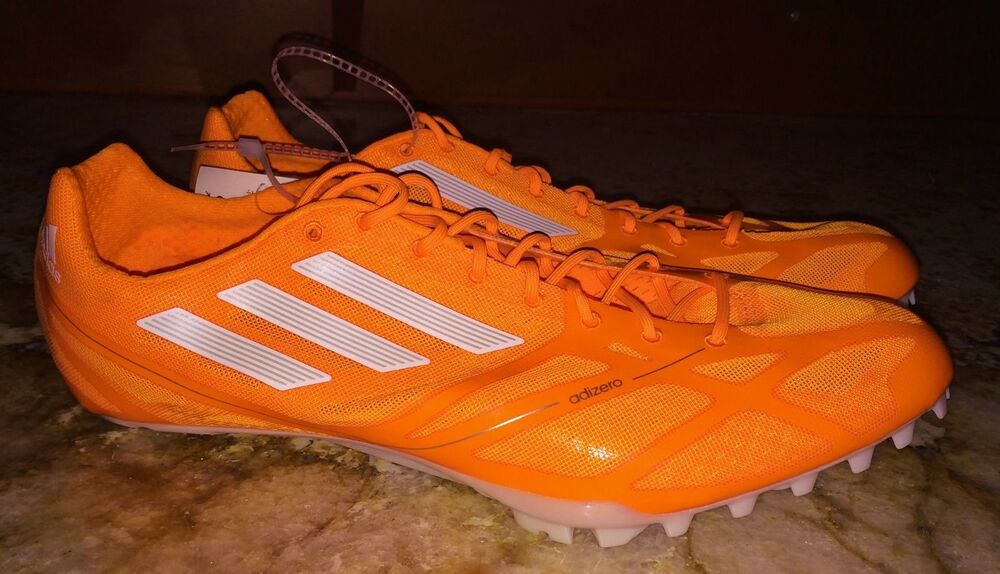 new concept 0f469 2e542 Details about ADIDAS AdiZero Prime Finesse 2 Sprint Track Spikes Shoes  ORANGE New Mens 13