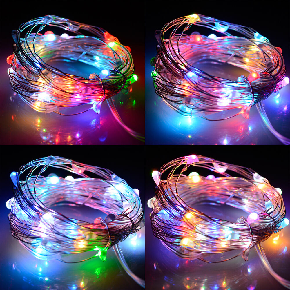 5M Multi-color LED String Fairy Lights Battery Operated ...