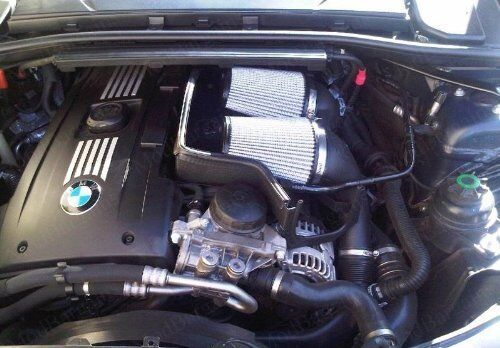 afe pro dry s stage 2 intake for bmw n54 twin turbo engine. Black Bedroom Furniture Sets. Home Design Ideas