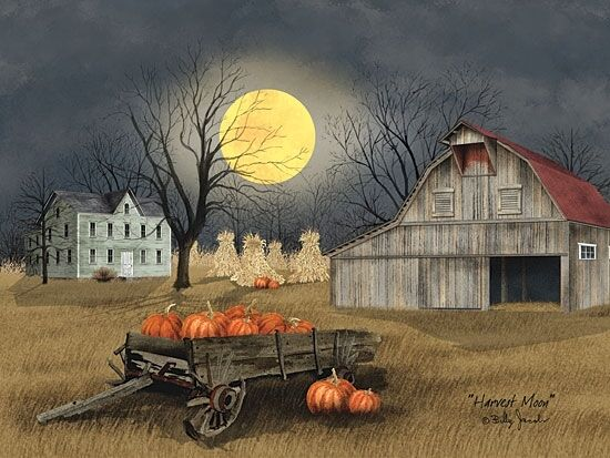 art print framed or plaque by billy jacobs harvest moon bj1094