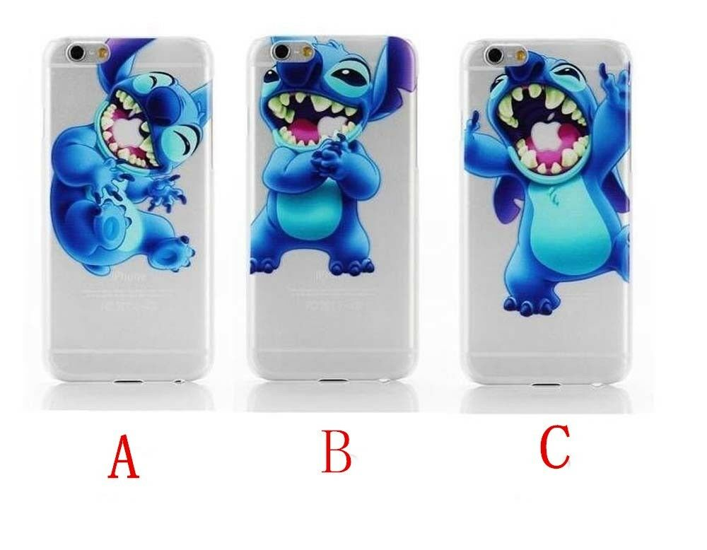 stitch phone case iphone 5s lovely lilo and stitch transparent clear cover 7987