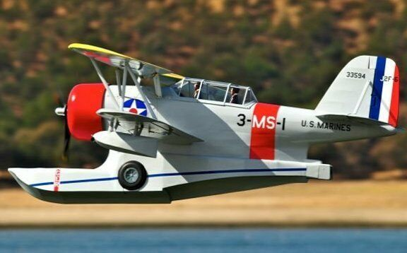grumman j2f duck 58 inch giant scale rc airplane printed