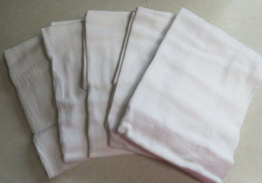 Six 6 White 100 Cotton Flour Sack Towels By Mainstays