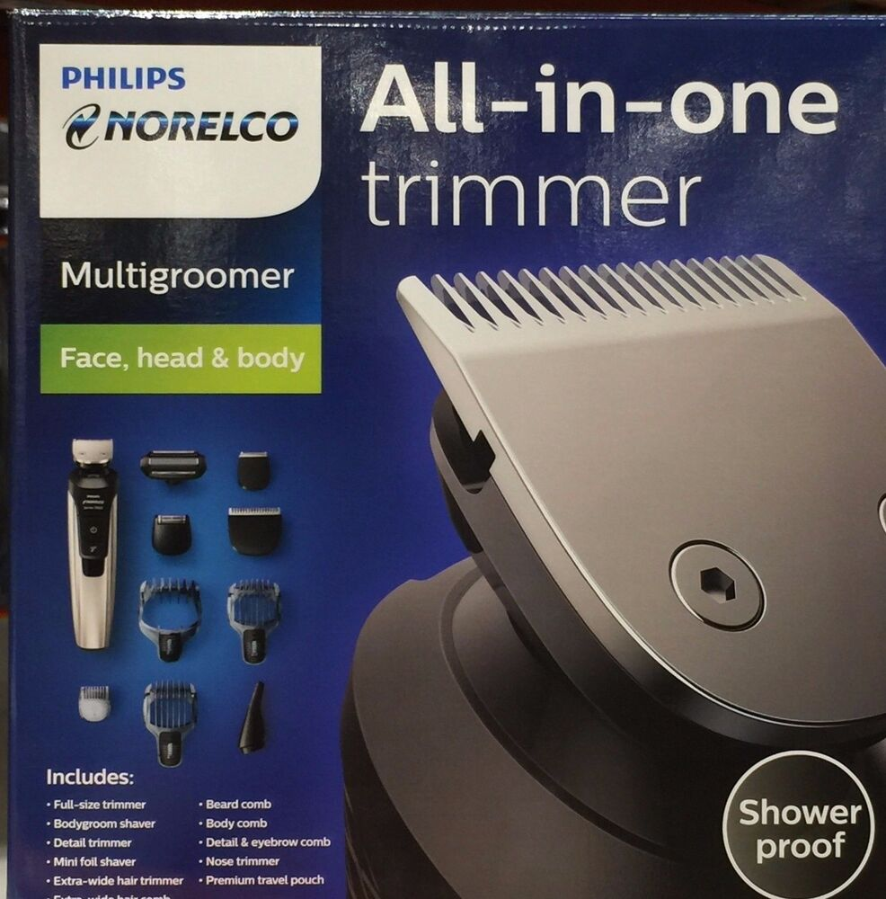 philips norelco multigroom trimmer qg3398 new ebay. Black Bedroom Furniture Sets. Home Design Ideas