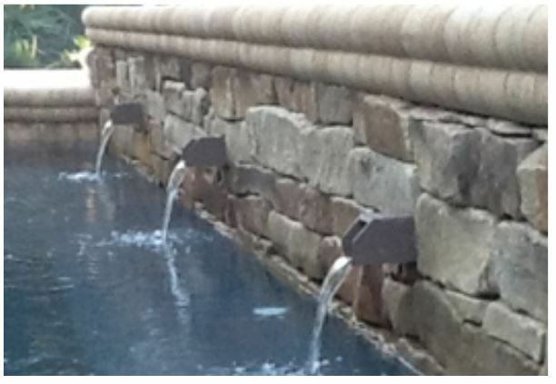 Water Scupper For Inground Pool Waterfall 2 5 X2 5 X12 1 Pvc Inlet Ebay