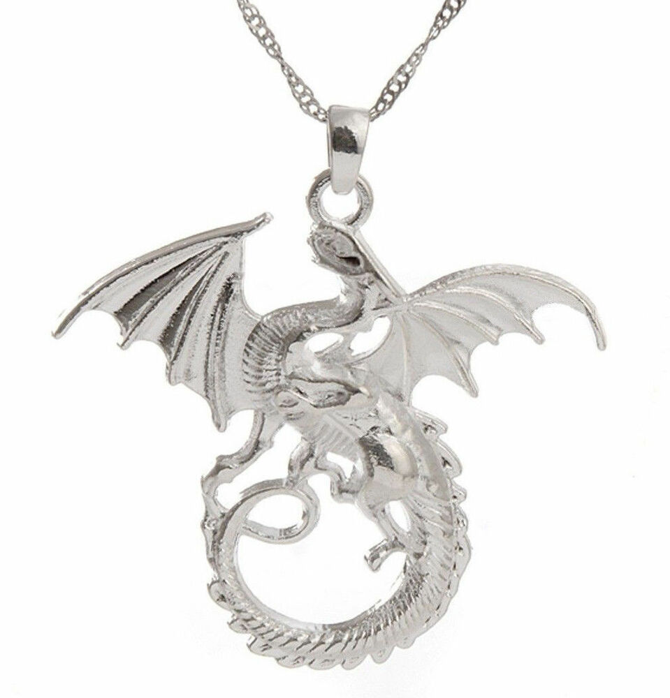 cool silver filled 3d flying charms necklace