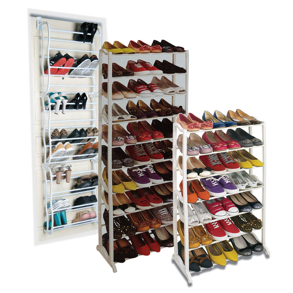 7/8/10 TIER SHOE RACK STORAGE ORGANISER STAND SHELF PAIRS
