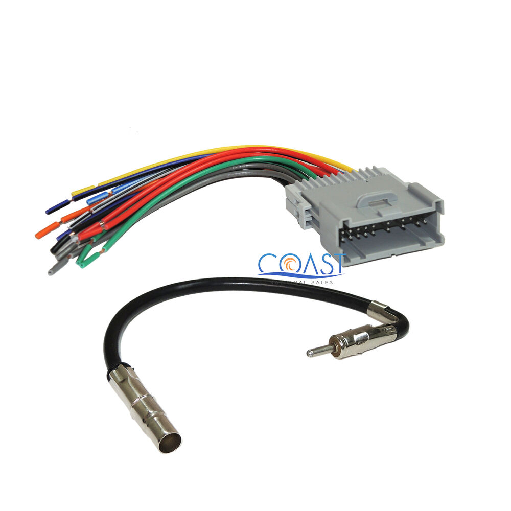 Gm Wiring Harness Stereo : Radio stereo wire harness antenna for  buick