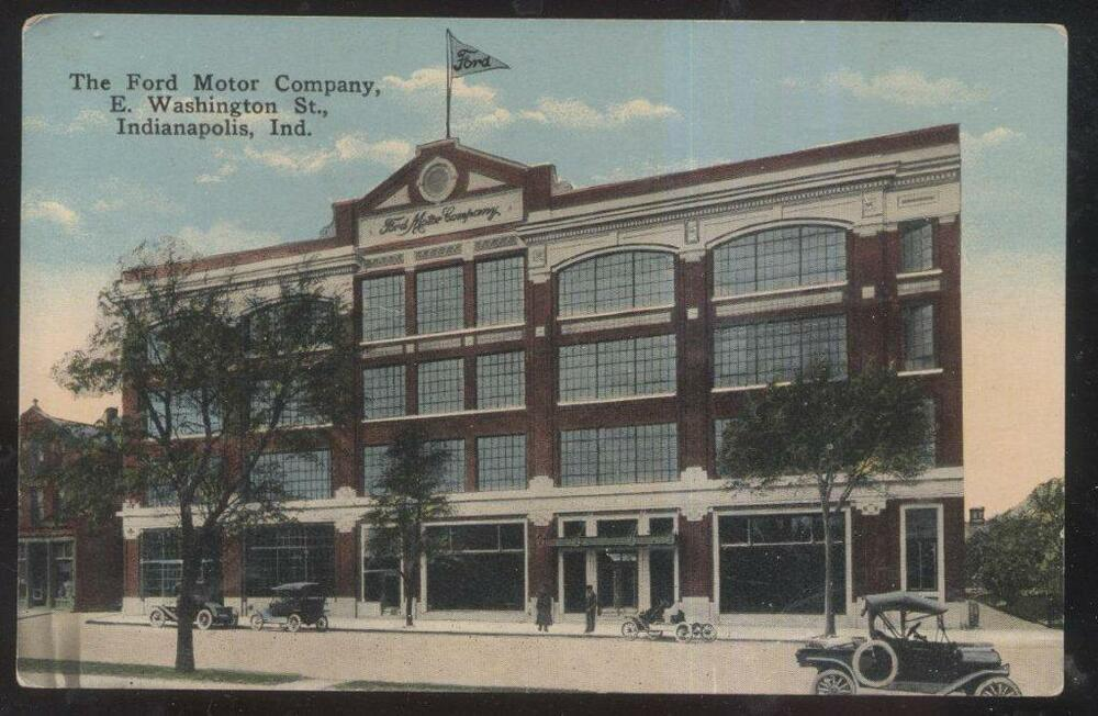 Postcard indianapolis in indiana ford motor company office for Ford motors corporate office