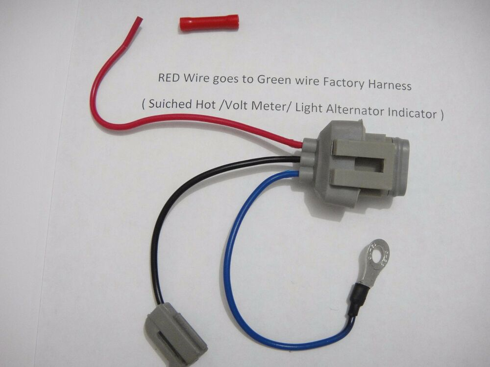 s l1000 ford 3g alternator conversion harness connector 1 wire ebay alternator wiring harness ford at bakdesigns.co