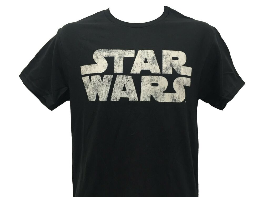 Star wars original logo vintage lunar moon rock design men for Vintage star wars t shirts men