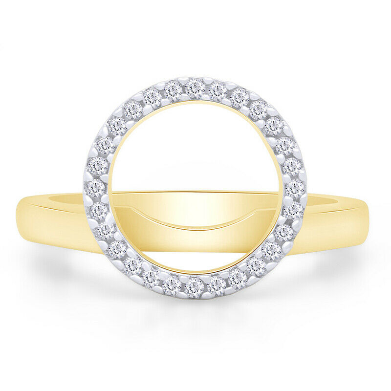 Diamond Solitaire Ring Wrap Yellow Gold