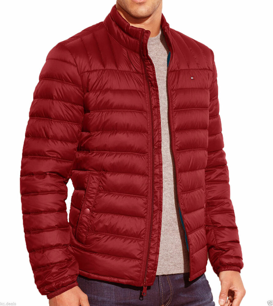 Tommy Hilfiger Quilted Red Navy Royal Down Packable Puffer
