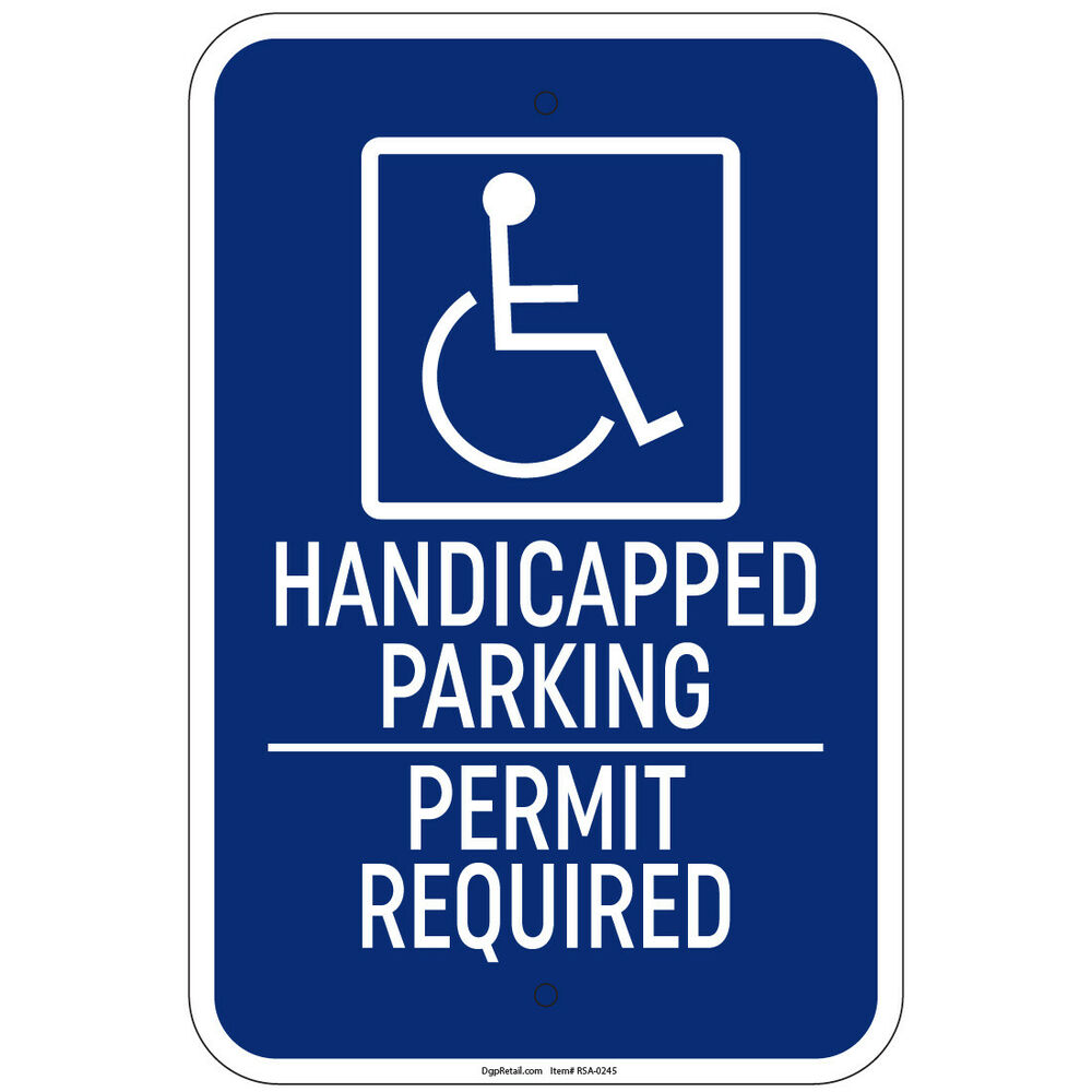 Pin Handicapped Parking Permit Required Sign on Pinterest