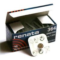 Renata Swiss Made Cell Battery 364 SR621SW AG1 SR60 Watch Trendy 1.55v x 1 pc