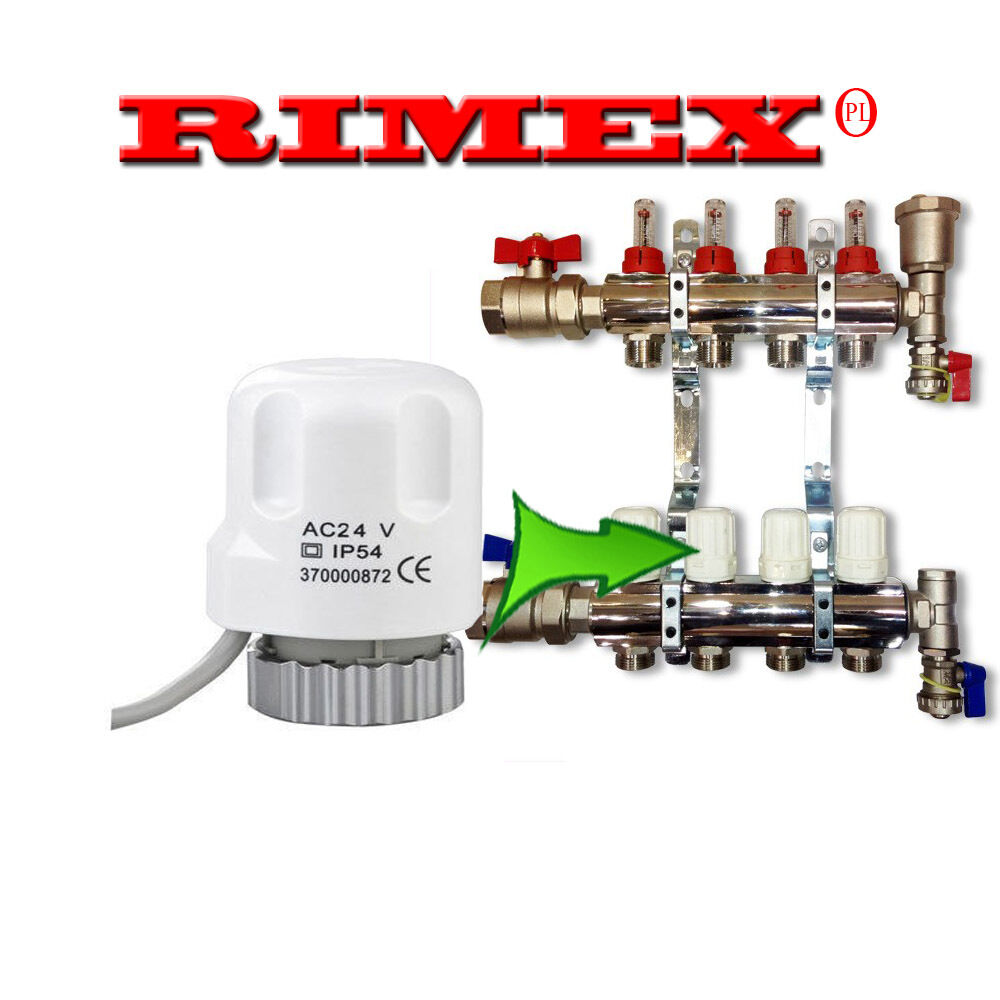 Thermo Electric Actuator For Underfloor Heating Manifold