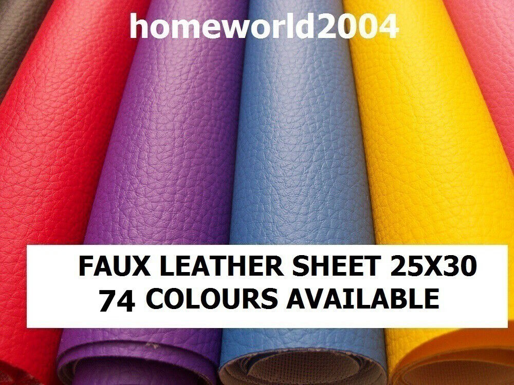 Faux leather leatherette sheet 25x30cm premium for Leather sheets for crafting