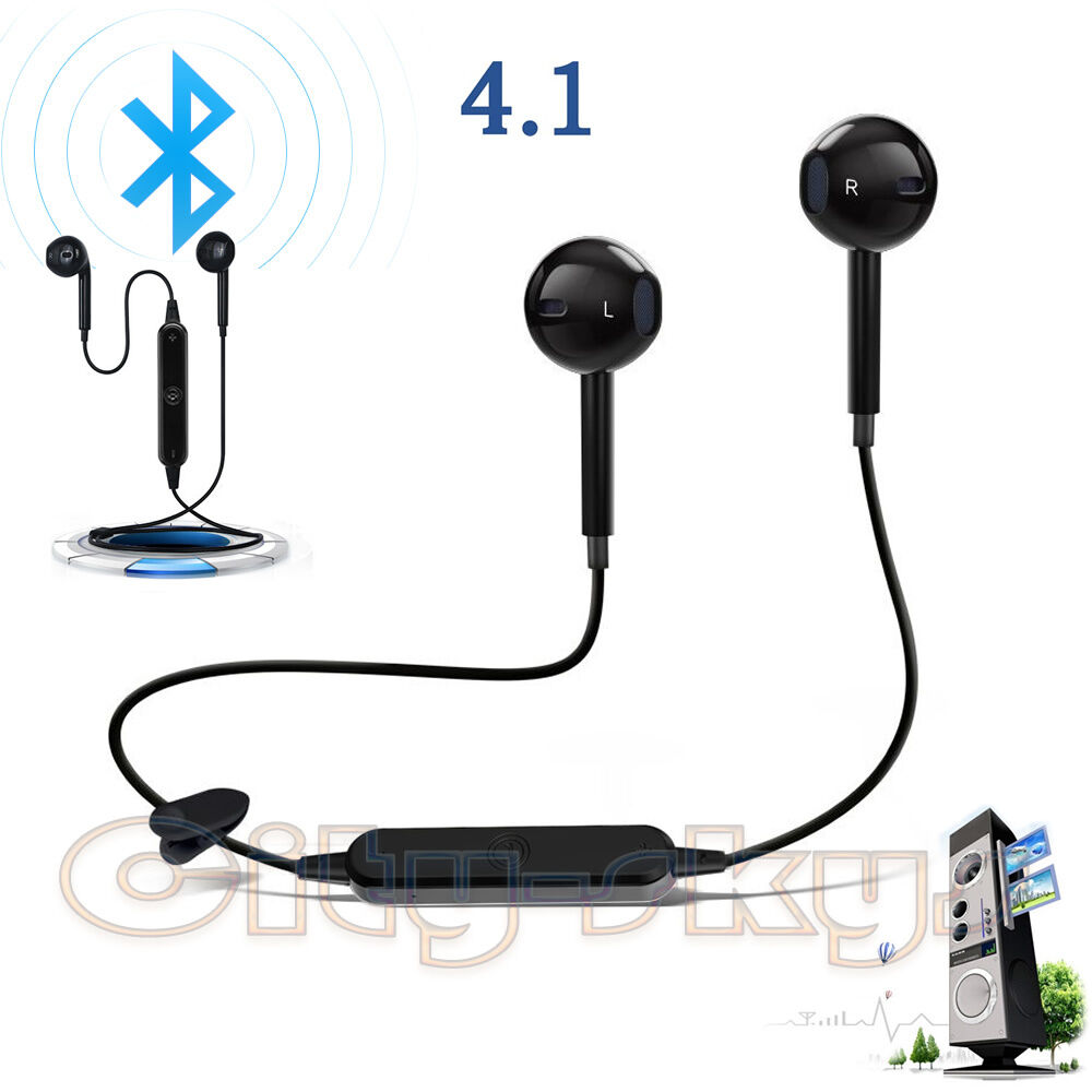 bluetooth 4 1 sport headset earbuds stereo headphone earphone for iphone galaxy ebay. Black Bedroom Furniture Sets. Home Design Ideas
