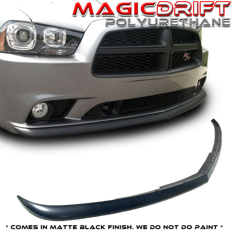 dodge charger 2011 2014 sedan 4dr pu front bumper lip. Black Bedroom Furniture Sets. Home Design Ideas