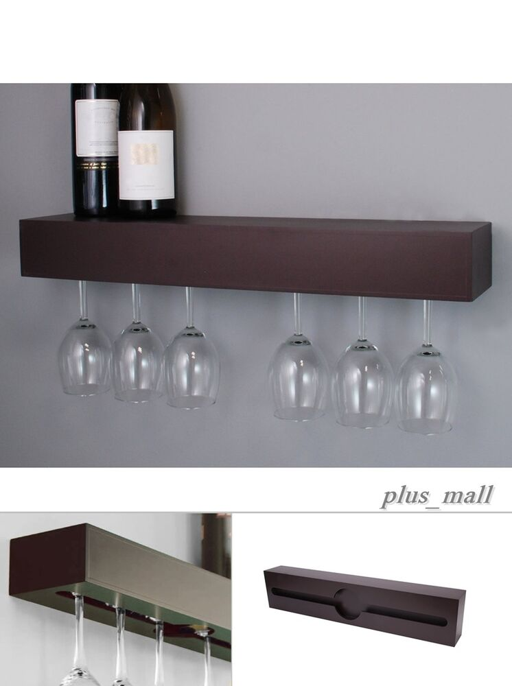 Wine Glass Rack Hanger Holder Under Cabinet Storage Bar
