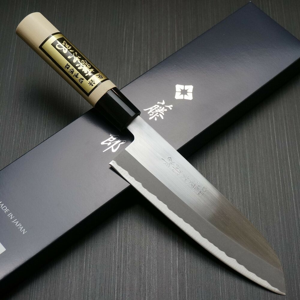 Industrial Kitchen Knives: Japanese Tojiro YASUKI SIROGAMI White Steel Santoku