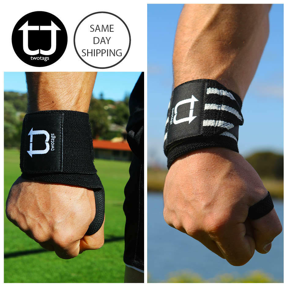 Strength Training: TWOTAGS Lifting Straps WEIGHT RUBBER WRIST WRAPS SUPPORT