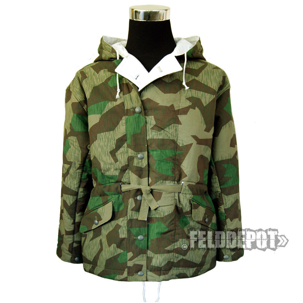 wwii wh wehrmacht parka wendejacke splittertarn gr i 48 50 ebay. Black Bedroom Furniture Sets. Home Design Ideas
