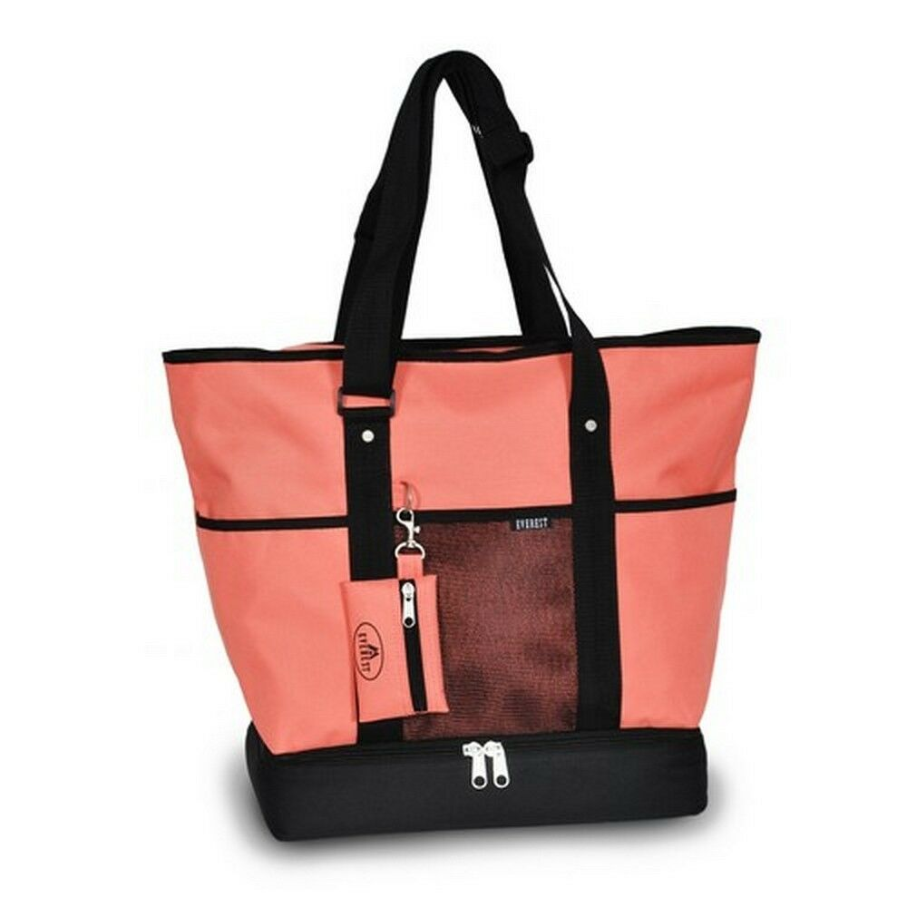 Everest Deluxe Large Shopping Tote Carry Bag - Coral | eBay